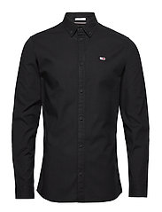 TJM STRETCH OXFORD SHIRT - TOMMY BLACK