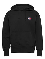 TJM TOMMY BADGE HOODIE - BLACK