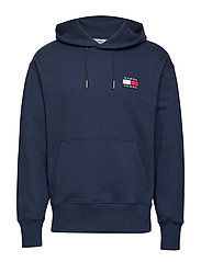 TJM TOMMY BADGE HOODIE - BLACK IRIS