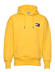 TJM TOMMY BADGE HOODIE - STARFRUIT YELLOW