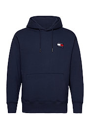 TJM TOMMY BADGE HOODIE - TWILIGHT NAVY