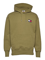 TJM TOMMY BADGE HOODIE - UNIFORM OLIVE