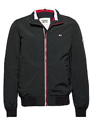 TJM ESSENTIAL BOMBER JACKET - TOMMY BLACK