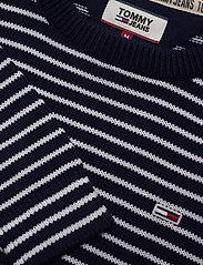 Tommy Jeans - TJM ESSENTIAL STRIPE - pulls col rond - black iris/classic white - 2