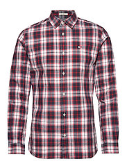 TJM POPLIN MULTI CHECK SHIRT - CLASSIC WHITE/MULTI
