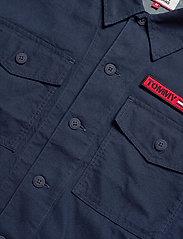 Tommy Jeans - TJM VELCRO OVERSHIRT - light jackets - black iris - 2