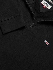 Tommy Jeans - TJM BRUSHED ZIP NECK TEE - rullekraver - tommy black - 2
