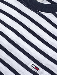 Tommy Jeans - TJM TOMMY STRIPE TEE - short-sleeved t-shirts - twilight navy / white - 2