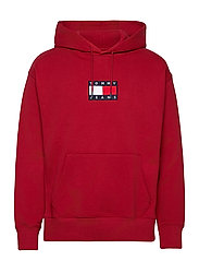 TJM SMALL FLAG HOODIE - WINE RED
