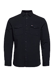 TJM DETAIL TWILL SHIRT - TWILIGHT NAVY