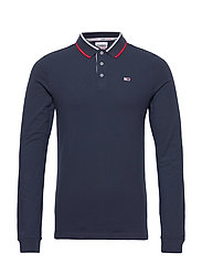 TJM STRETCH SLIM LONGSLEEVE POLO - TWILIGHT NAVY 654-860