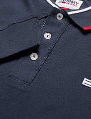 Tommy Jeans - TJM STRETCH SLIM LONGSLEEVE POLO - long-sleeved polos - twilight navy 654-860 - 2