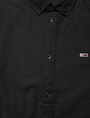 Tommy Jeans - TJM SLIM STRETCH OXF - rutiga skjortor - black - 2