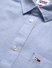 Tommy Jeans - TJM LINEN BLEND SHIRT - rutiga skjortor - light blue - 3