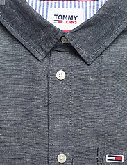 Tommy Jeans - TJM LINEN BLEND SHIRT - rutiga skjortor - twilight navy - 2