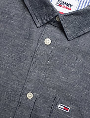 Tommy Jeans - TJM LINEN BLEND SHIRT - rutiga skjortor - twilight navy - 3