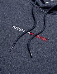 Tommy Jeans - TJM STRAIGHT LOGO HOODIE - basic sweatshirts - twilight navy htr - 2