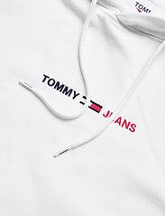 Tommy Jeans - TJM STRAIGHT LOGO HOODIE - hoodies - white htr - 2