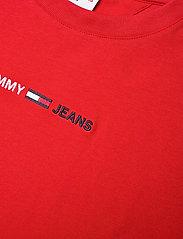 Tommy Jeans - TJM LINEAR LOGO TEE - basic t-shirts - deep crimson - 2