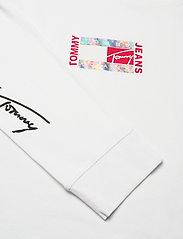 Tommy Jeans - TJM SMALL FLAG BOX LOGO TEE - långärmade t-shirts - white - 3