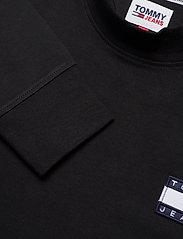 Tommy Jeans - TJM BADGE MOCK NECK LONGSLEEVE - basic t-shirts - black - 2