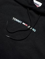 Tommy Jeans - TJM SHINE STRAIGHT LOGO HOODIE C - hoodies - black - 2