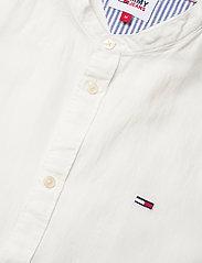 Tommy Jeans - TJM MAO LINEN BLEND SHIRT - rutiga skjortor - white - 3