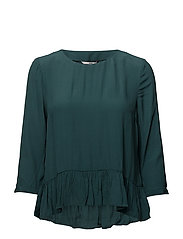TJW BASIC BLOUSE 3/4 - SEA MOSS