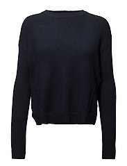 TJW BASIC CN SWEATER - NAVY BLAZER