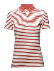 TJW ESSENTIAL STRIPE - SPICED CORAL / BRIGHT WHITE