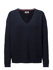 TJW EASY TEXTURED SWEATER - BLACK IRIS