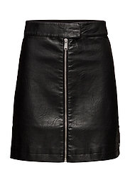 TJW ZIP FRONT SKIRT - TOMMY BLACK