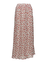 TJW FLORAL MAXI SKIRT - SCRIBBLE FLORAL PRINT