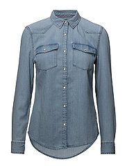 TJW WESTERN DENIM SHIRT - SAUNBY LIGHT RIGID