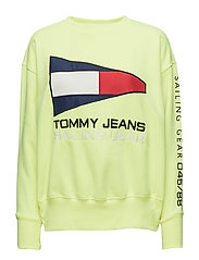 TJW 90s SAILING LOGO NEON CREW - SAFETY YELLOW