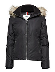 TJW HOODED DOWN JACKET - TOMMY BLACK