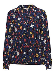 TJW ESSENTIAL OPEN NECK BLOUSE - VINTAGE FLORAL PRINT