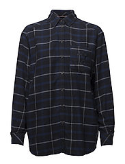 TJW CHECK FLANNEL SHIRT - BLUE CHECK / MULTI