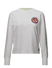 TJW 90s LOGO LONG SLEEVE TEE - BRIGHT WHITE
