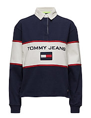 TJW 90s BLOCKED RUGBY - PEACOAT