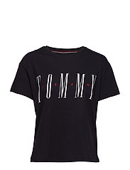 TJW LAYER GRAPHIC TE - TOMMY BLACK