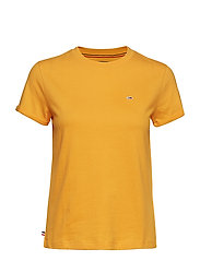 TJW RELAXED ROLL UP SLEEVE TEE - RADIANT YELLOW