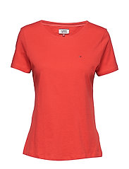 TJW SOFT JERSEY TEE, - FLAME SCARLET