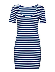 TJW TOMMY CLASSICS BODYCON DRESS - LIMOGES / CLASSIC WHITE