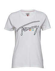 TJW OUTLINE SIGNATURE TEE - CLASSIC WHITE