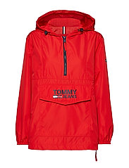TJW TOMMY POPOVER ANORAK - FLAME SCARLET