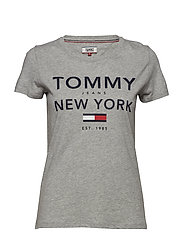 TJW ESSENTIAL GRAPHIC TEE - LT GREY HTR