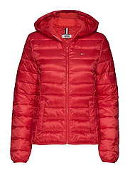 TJW QUILTED ZIP THRU - FLAME SCARLET