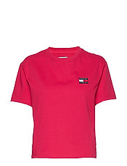 TJW TOMMY BADGE TEE - BLUSH RED