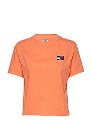 TJW TOMMY BADGE TEE - MELON ORANGE